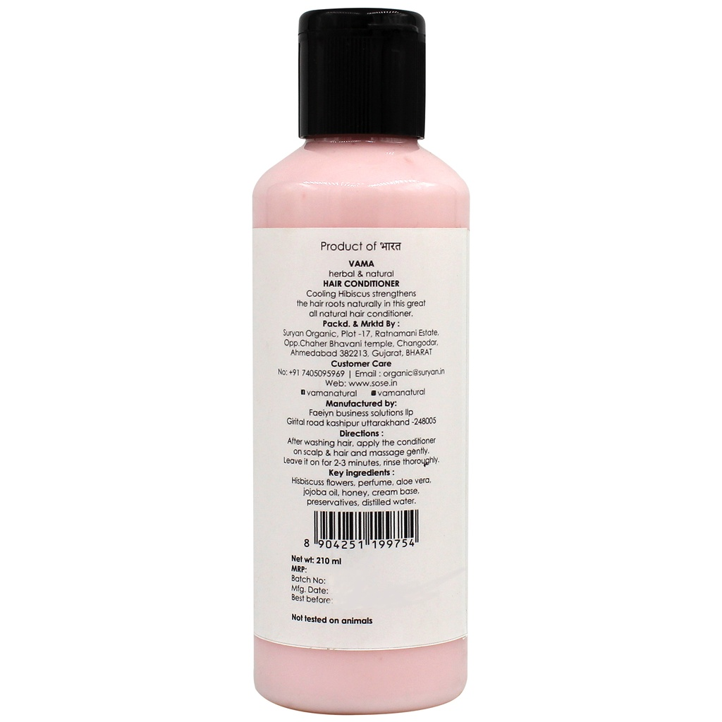 VAMA Natural Hibiscus Hair Conditioner 210 ml
