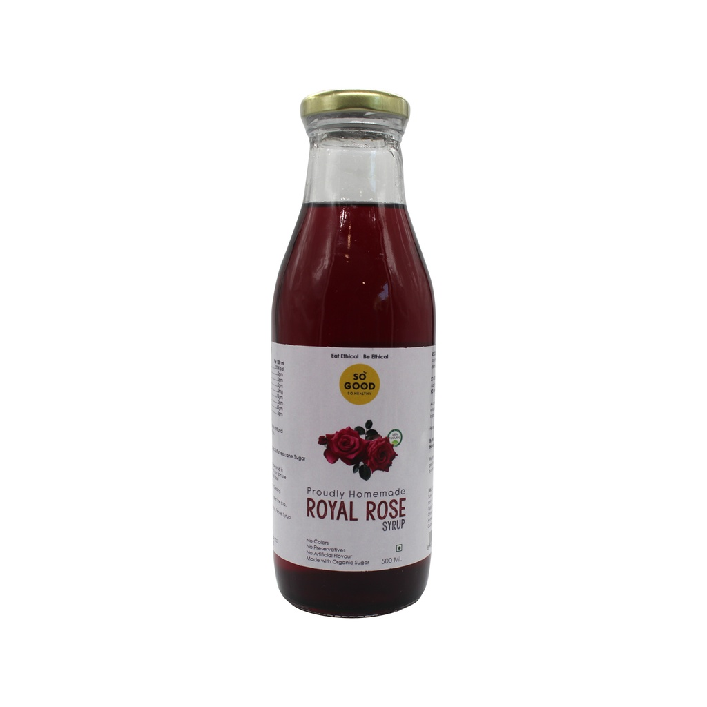 SO GOOD Natural Royal Rose Syrup 500ml
