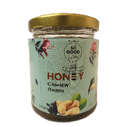 SOSE Organic Honey Cashew and Raisin 200g