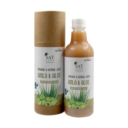 [amlaaloe002 ] SAT VEDA Natural Amla & Aloe Vera Juice 500ml