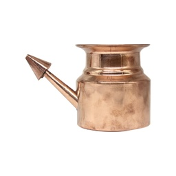 "KAPITA Copper Plain Netipot (Ramjhara) No.1 - 3"" Inch Height 230ml"