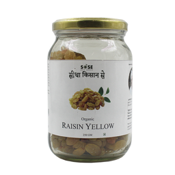 Sidha Kisan Se Organic Raisin Yellow 250gm